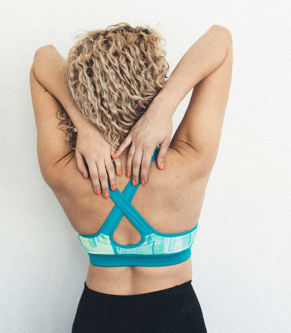 Wearing Brooks'  Uprise Crossback Bra