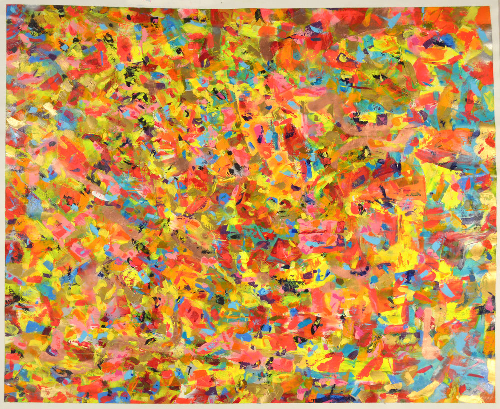 ACRYLIC ON LINEN - 2016- SANTA FE LIGHT #3 - 6FT X 5FT - © ROSS CHANEY - ALL RIGHTS RESERVED