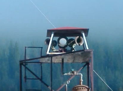 The horn system fixed on top of the Dunsmuir Fire Department