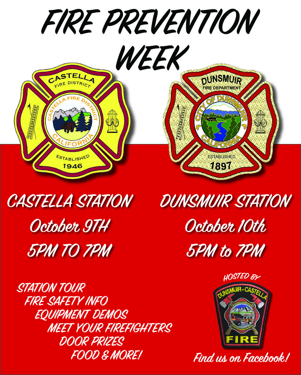 fire prevention week flier