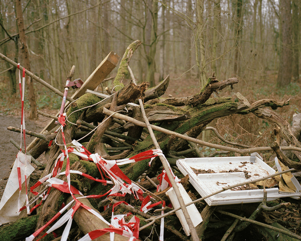 Barricades on the roads in the forest prevent police cars and RWE trucks from moving around, but also would deny access to emergency services such as fire trucks or ambulances.
