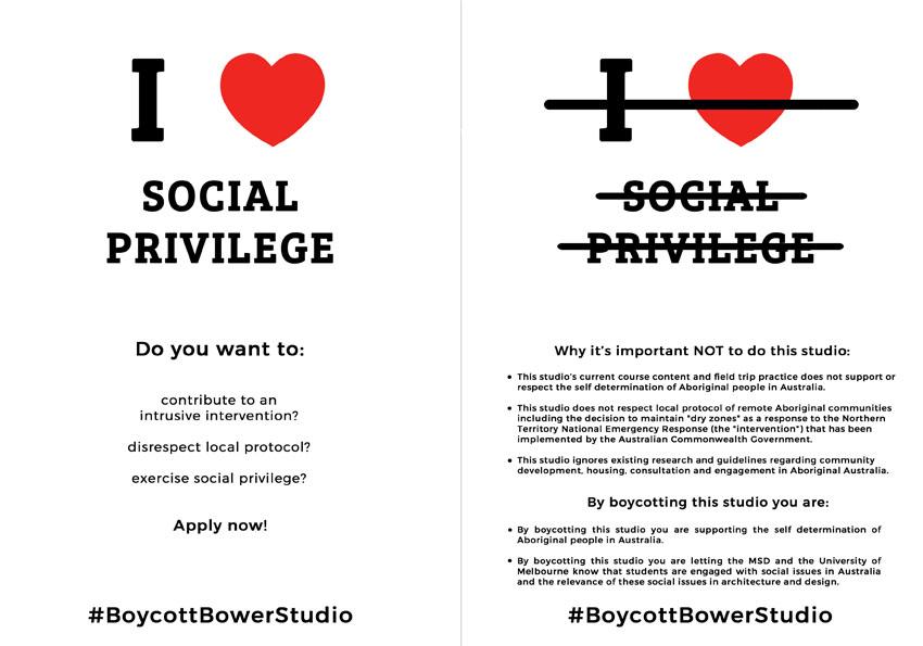 BoycottBowerStudio flyer