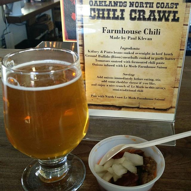 Oakland Chili Crawl, good brews and good stews @dee_antler #chiliandchill #Oakland #beer #chili