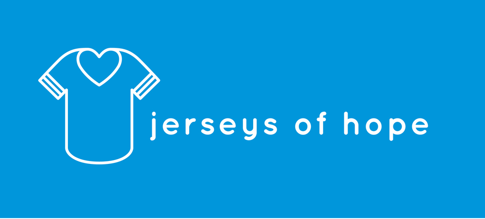 Jerseys of hope is a non-profit organization committed to inspiring a sense of community and wellbeing in hospitals through the donation of new and gently used athletic jerseys to be worn by patients rooting for their favorite team.