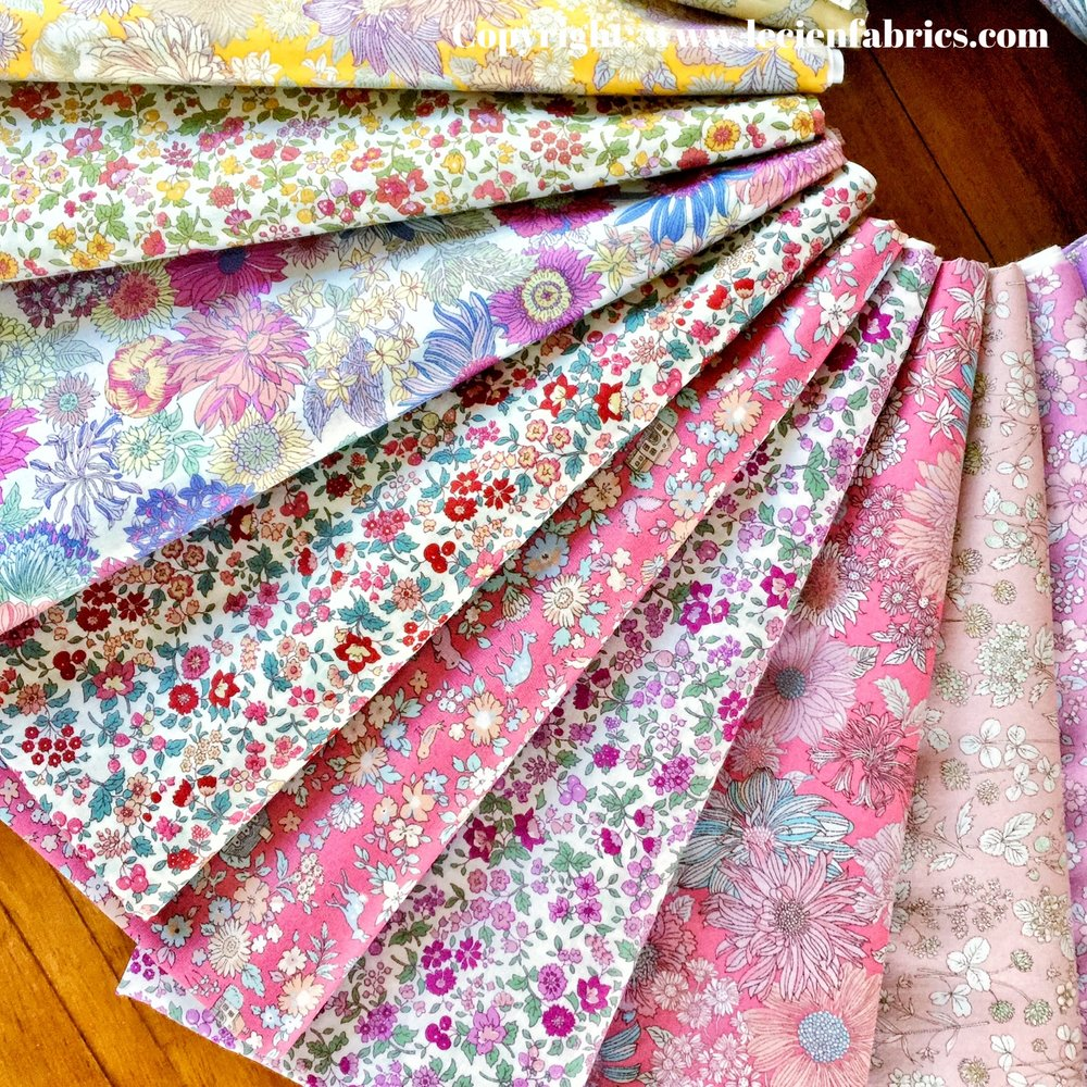 pink and lavender prints from memoire a paris collection 2017 by Lecien Fabrics