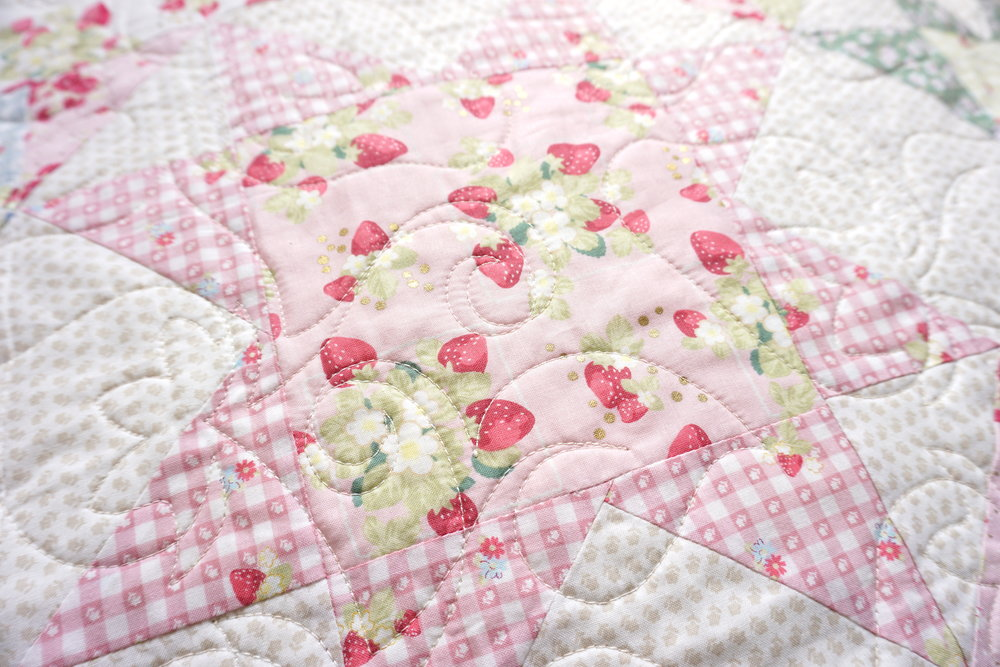 Close-up: La Conner Stars by Jera Brandvig for Lecien Fabrics