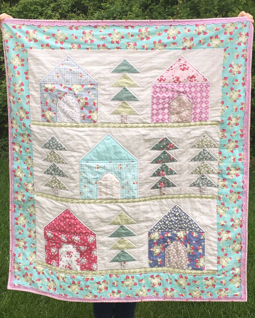 """Cozy Cabins Quilt"" created by Faith Essenburg - designed by Jera Brandvig"