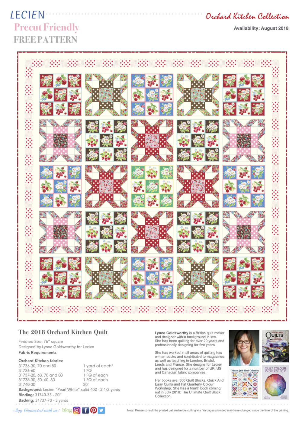 The 2018 Orchard Kitchen Quilt