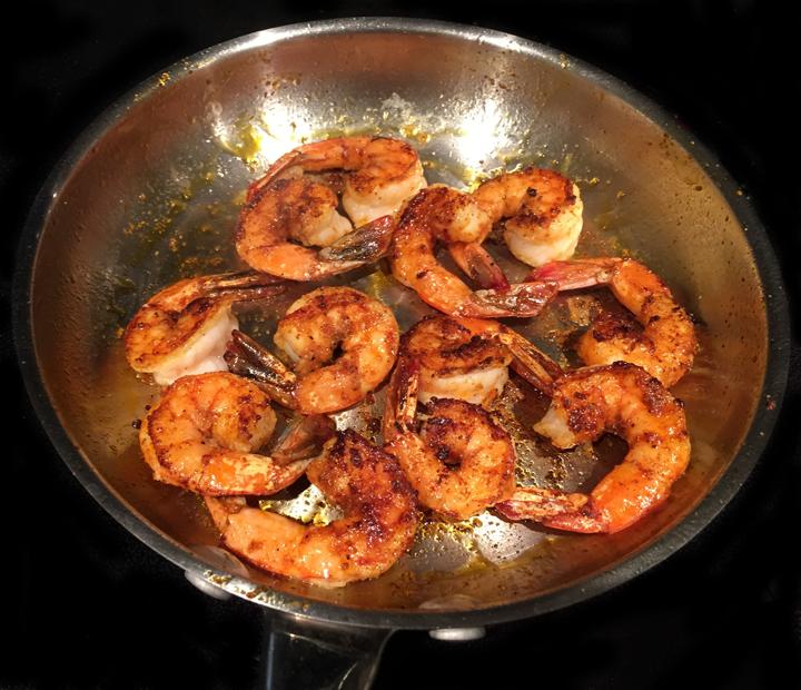 (Somewhat) Spicy Sautéed Shrimp — Anne food.