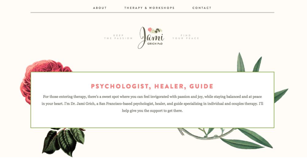 wordpress website therapist nashville