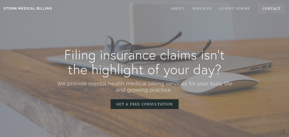 Mental Health Website Design Squarespace