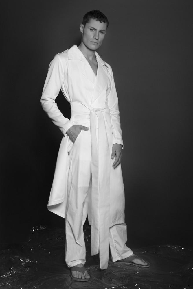 Aimmea - Malcolm Henderson Ice model white trench coat BNW.jpg