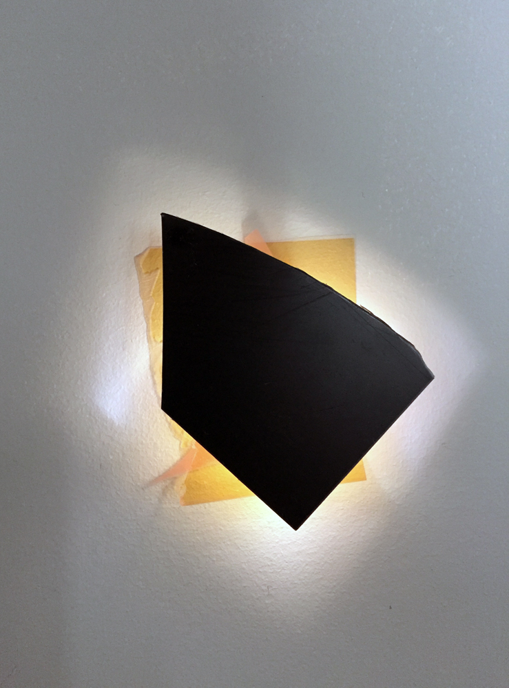 Heart(s)  - Acrylic mirror, led light, photo films. A series to be installed in a line. Dimensions variable. 2015