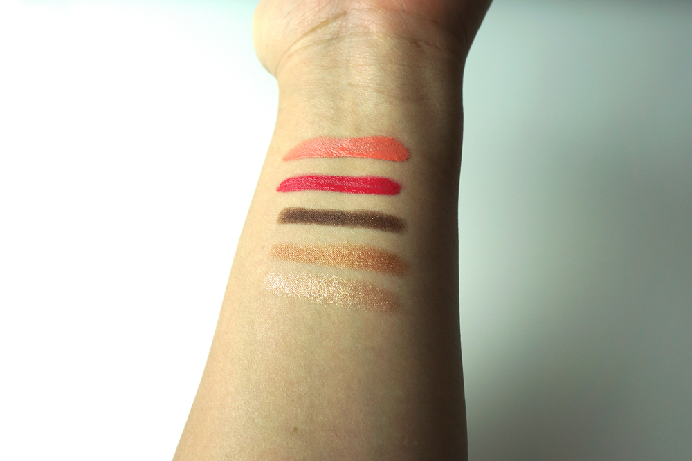 From Top to Bottom Lip & Cheek Lovely Peach, Lovely Pink, Shadow Stick Lovely Deep Bronze, Lovely Sepia, Lovely Rose Gold