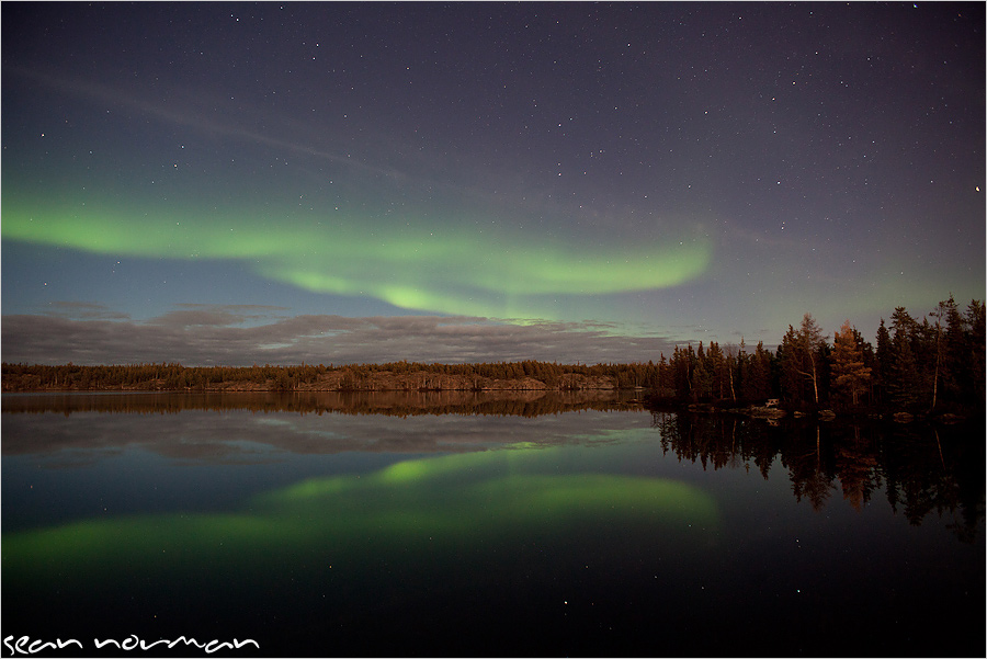 aurora borealis chasing canada