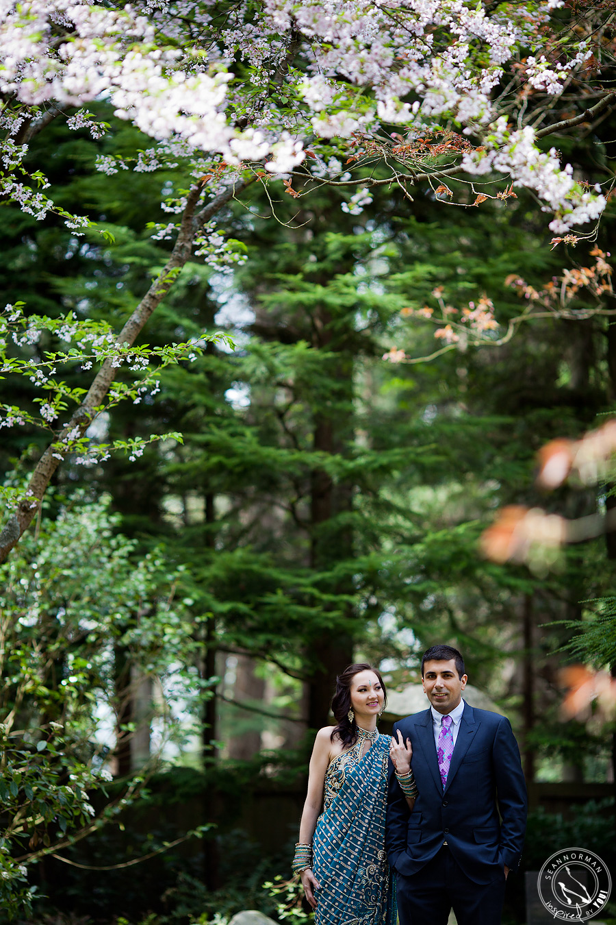 vancouver UBC japanese gardens wedding engagement photography