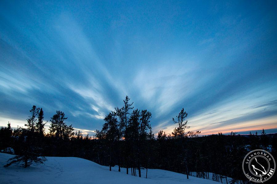 northern lights above yellowknife - vee lake & cameron falls - 10