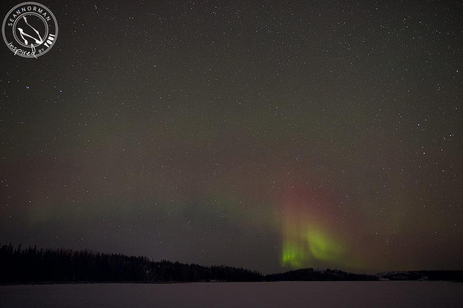 northern lights above yellowknife - vee lake & cameron falls - 11