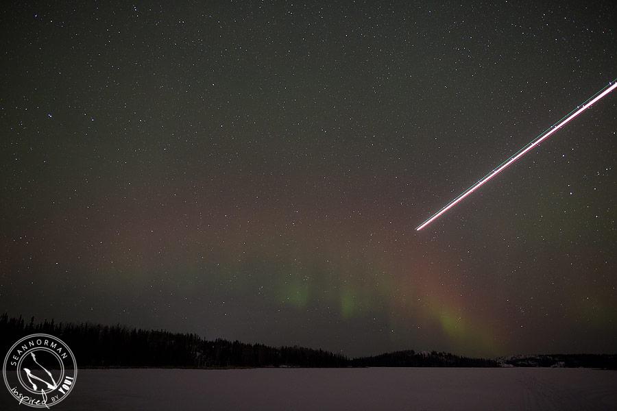 northern lights above yellowknife - vee lake & cameron falls - 12