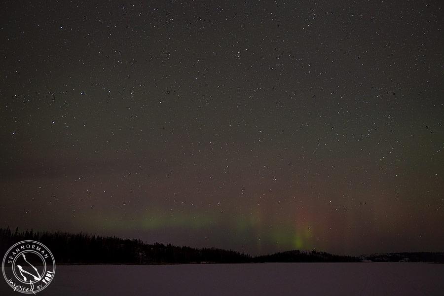 northern lights above yellowknife - vee lake & cameron falls - 13
