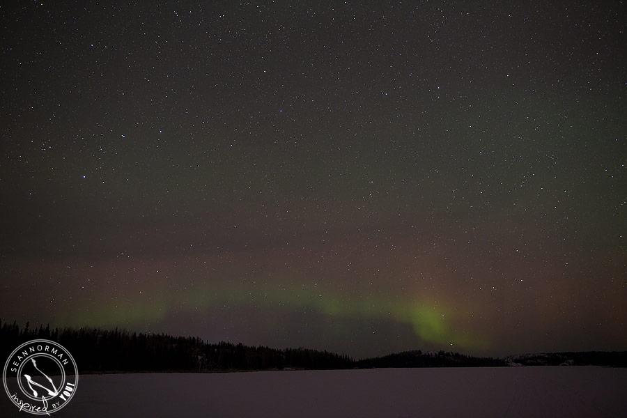 northern lights above yellowknife - vee lake & cameron falls - 14