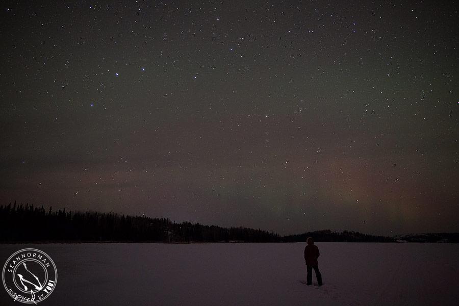 northern lights above yellowknife - vee lake & cameron falls - 15