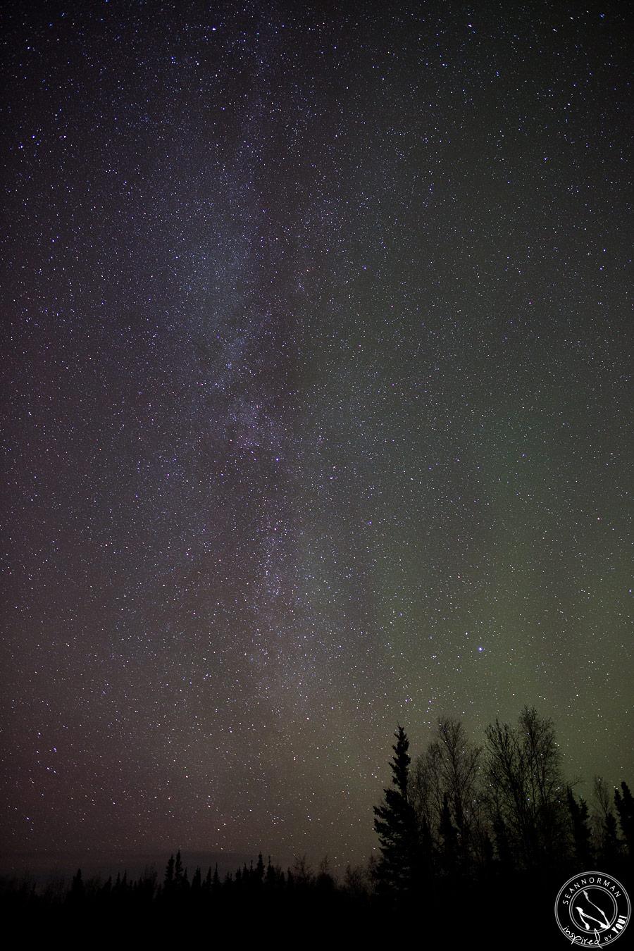 northern lights above yellowknife - vee lake & cameron falls - 16