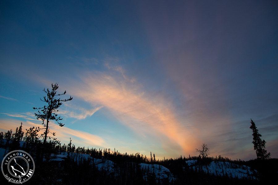 northern lights above yellowknife - vee lake & cameron falls - 3