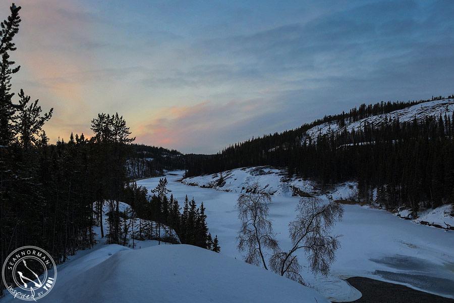 northern lights above yellowknife - vee lake & cameron falls - 5