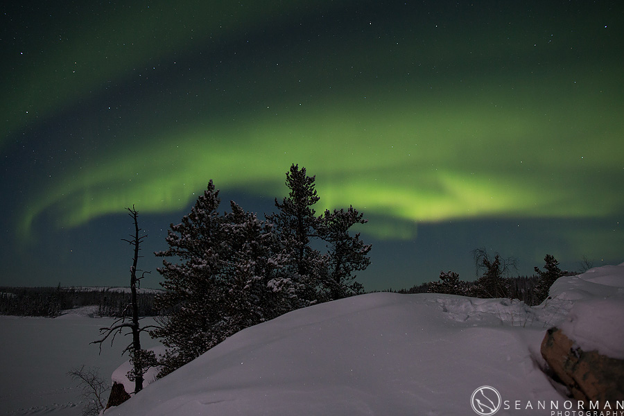 yellowknife northern lights - all in one night - 13