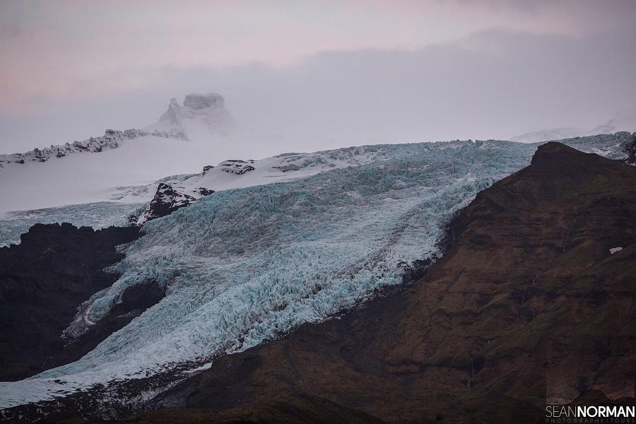 skaftafell national park glacier