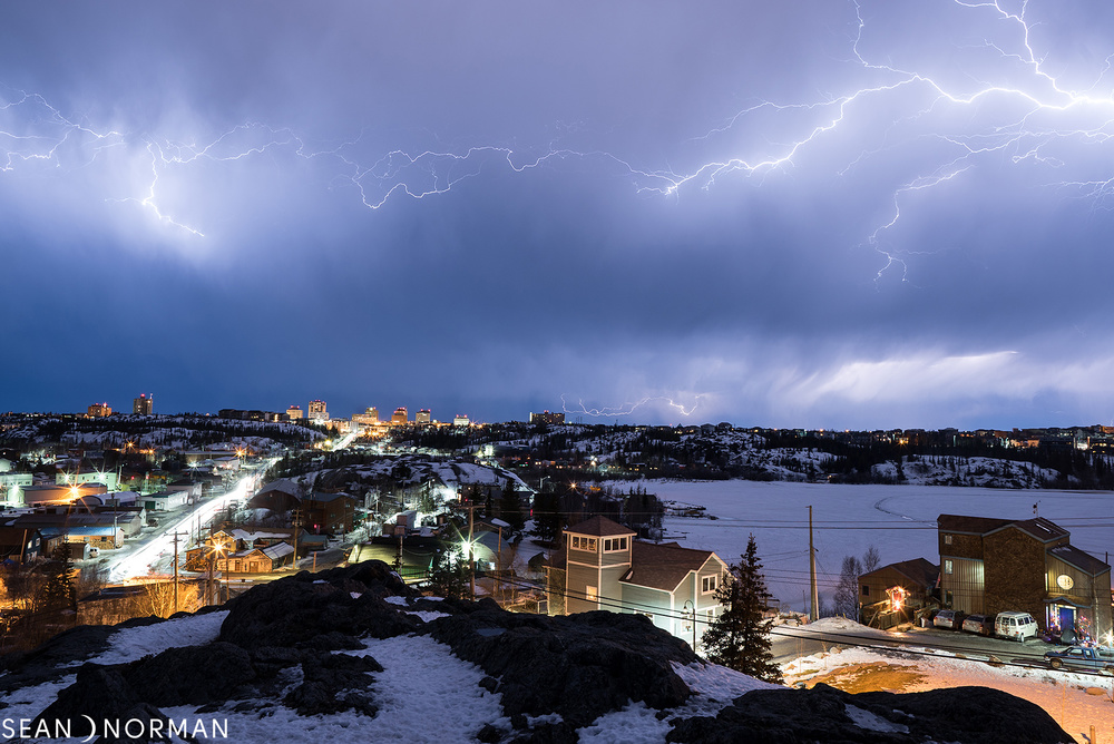Sean's Guesthouse - Yellowknight Lightning Storm from Pilots Monument - 1.jpg