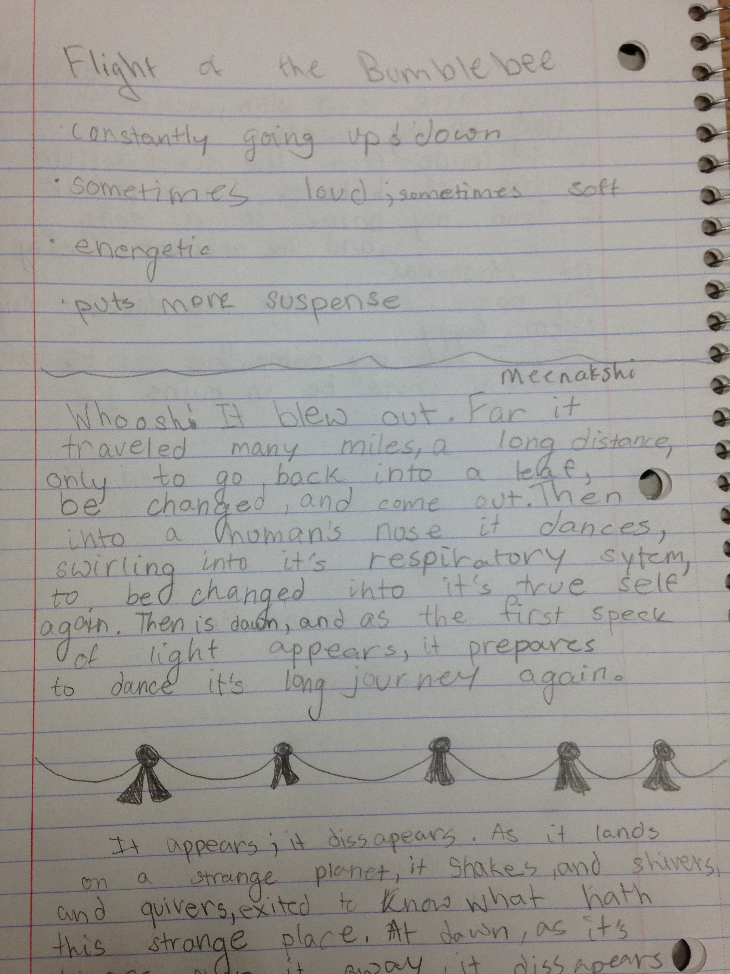 Meenakshi - Writing about things that fly - this is a piece about Co2!