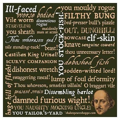 Shakespeare Creative Insults