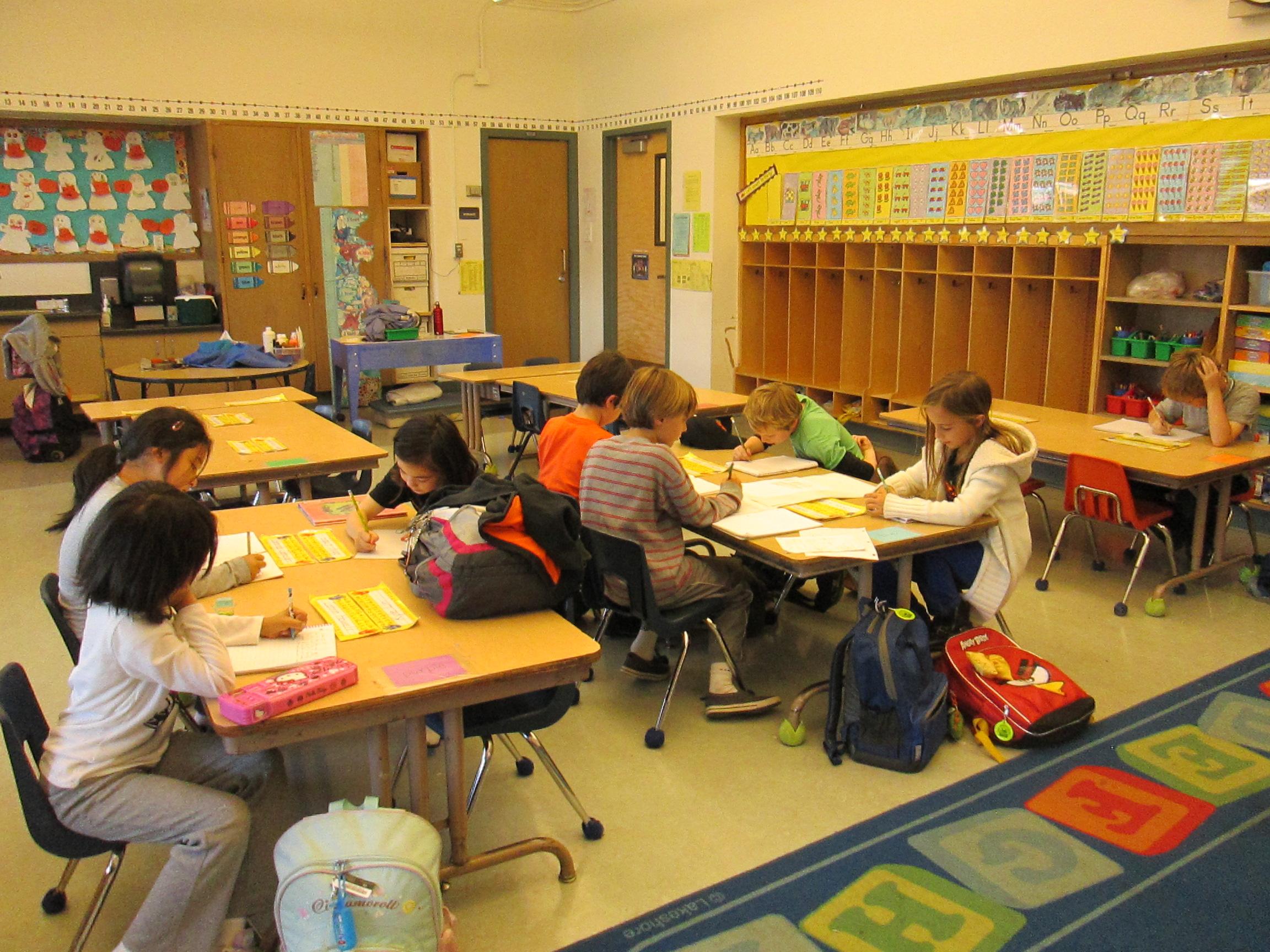 Sunset Elementary class