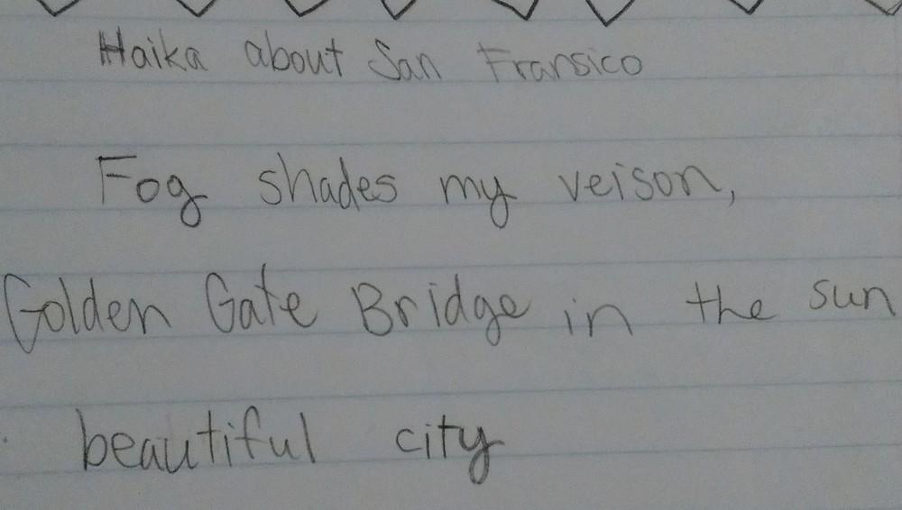 Haiku about San Francisco by Simone