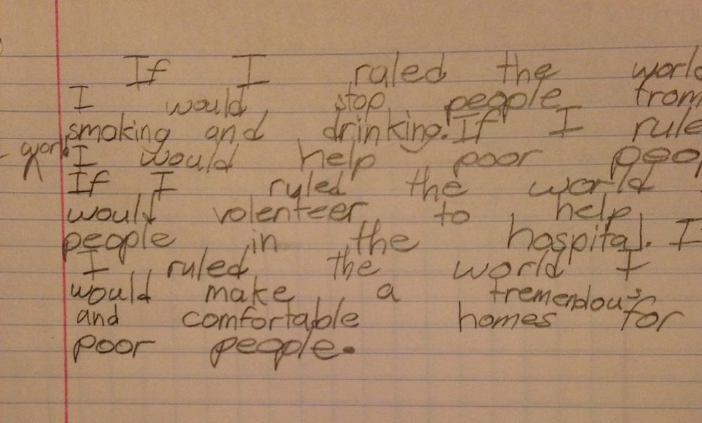 """If I ruled the world..."" by Deborah"