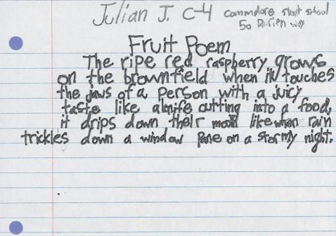 Fruit Poem by Julian