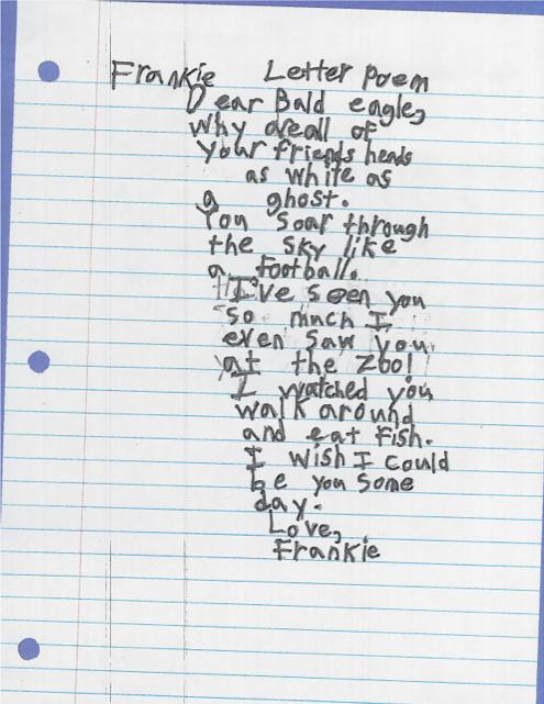 Dear Bald Eagle by Frankie