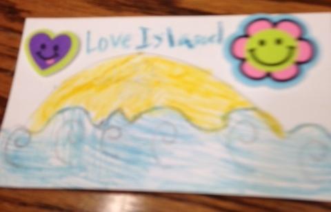 Lorena's Love Island Valentine (front)