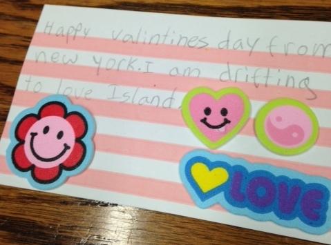 Lorena's Love Island Valentine (back)