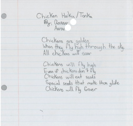 Chicken Haiku by Aarav