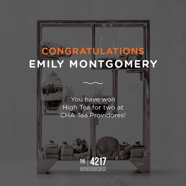 Congrats Emily! Enjoy your High Tea at @chateaprovidores 🌟 #The4217