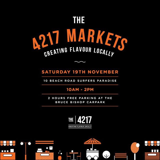 ✨ The 4217 Markets ✨  Spend your Saturday exploring a variety of local artisans as well as our award winning providores. Come and join us on Saturday 19th November from 10am - 2pm #The4217Markets