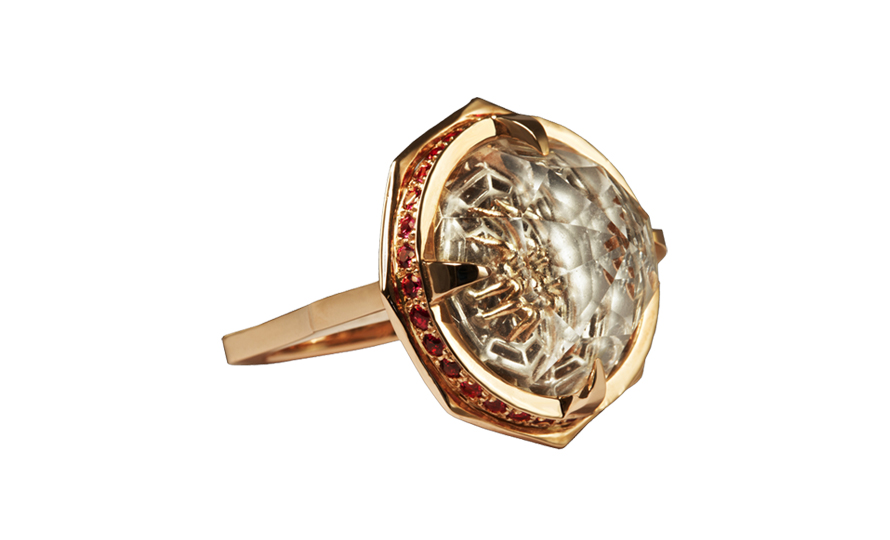 Luke Goldsmith Money Spider Ring Rose Gold