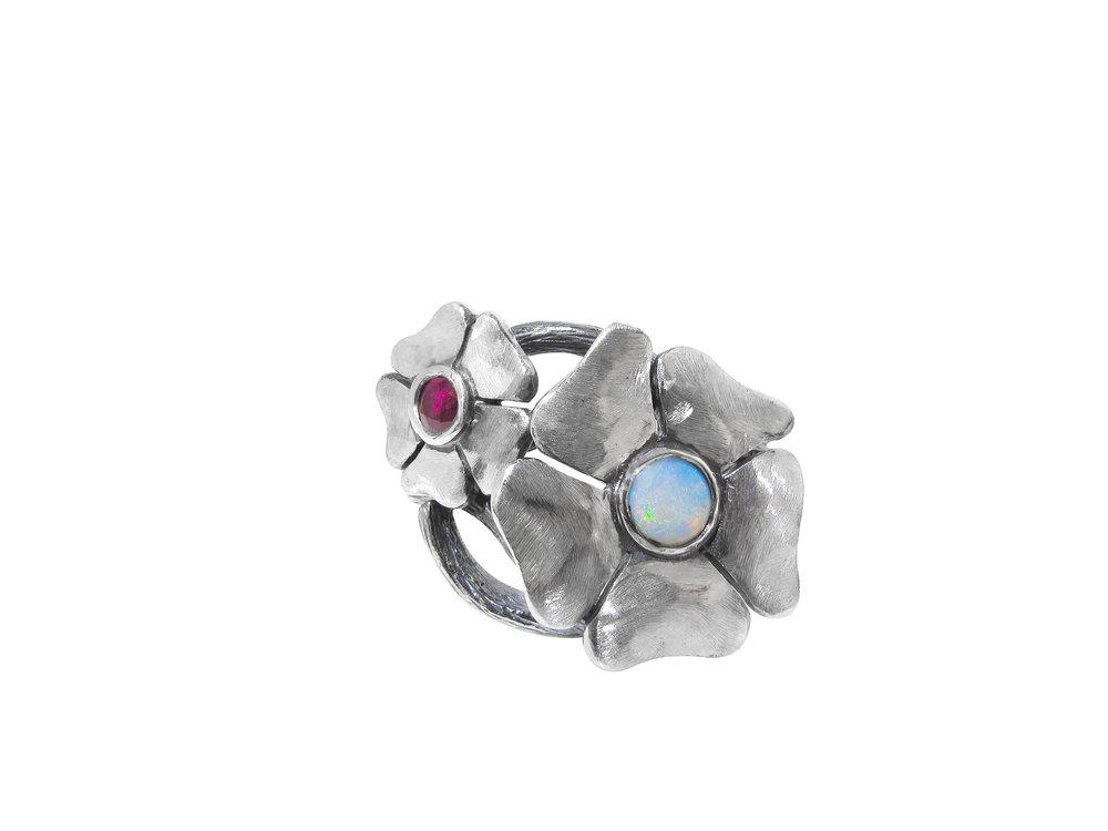 Silver, Opal & Ruby £195