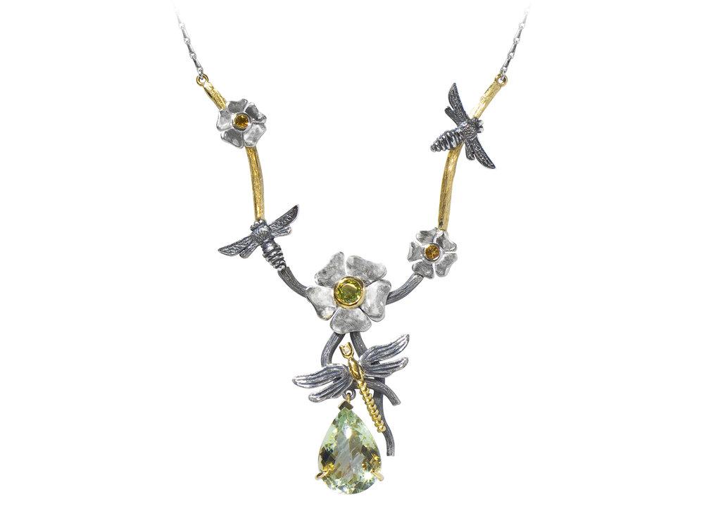 Yellow Gold, Silver,Diamond,Peridot, Citrine  Green Amethyst £POA