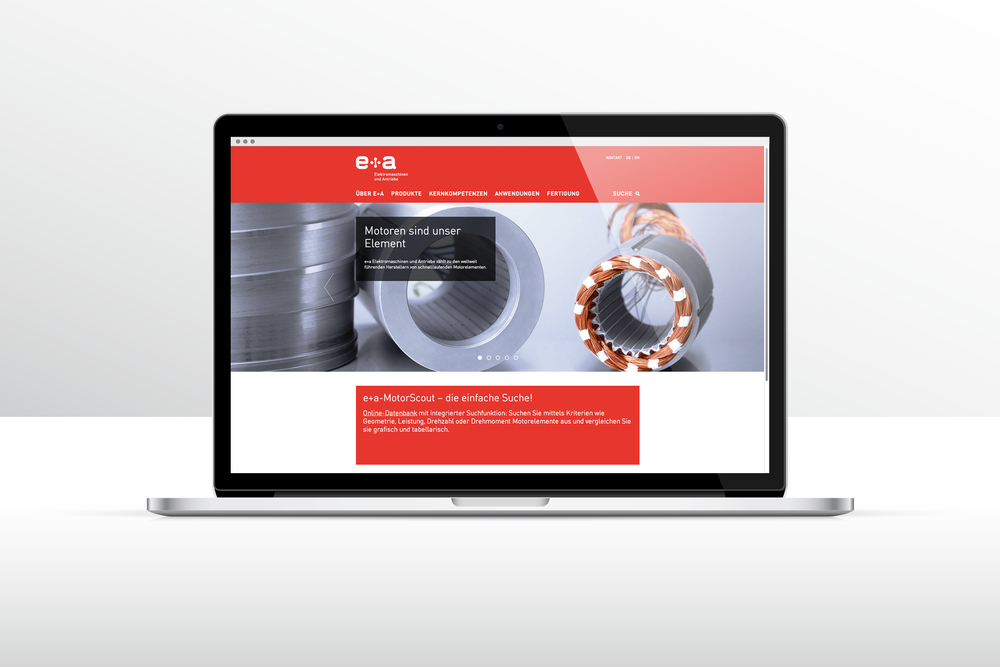 Website für e+a Elektromaschinen und Antriebe AG