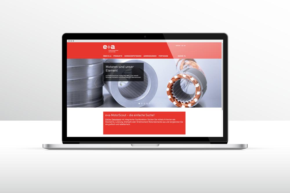Corporate Identity für e+a Elektromaschinen und Antriebe AG