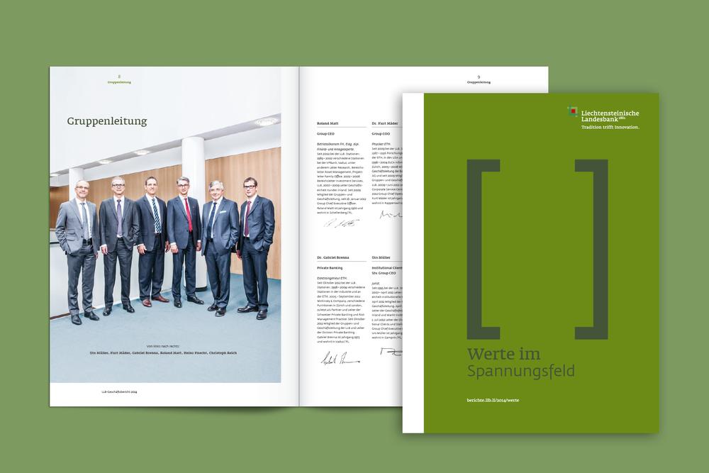 Liechtensteinische Landesbank, Geschäftsbericht 2014